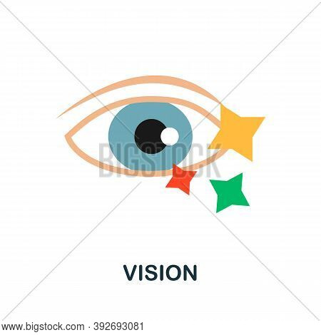 Vision Icon. Simple Element From Creativity Collection. Creative Vision Icon For Web Design, Templat