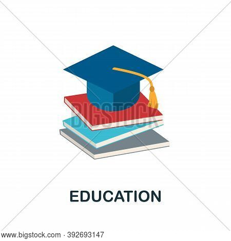 Education Icon. Simple Element From Creativity Collection. Creative Education Icon For Web Design, T
