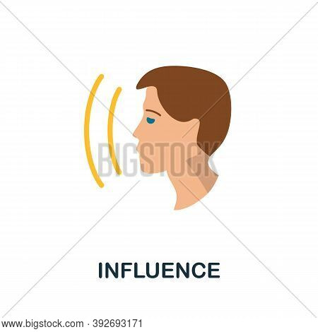 Influence Icon. Simple Element From Creativity Collection. Creative Influence Icon For Web Design, T