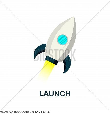 Launch Icon. Simple Element From Creativity Collection. Creative Launch Icon For Web Design, Templat