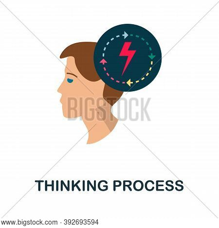 Thinking Process Icon. Simple Element From Creativity Collection. Creative Thinking Process Icon For