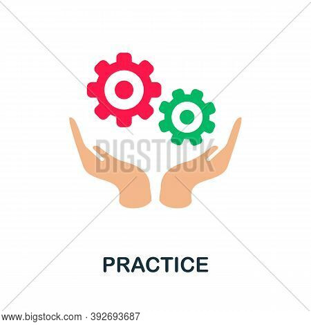 Practice Icon. Simple Element From Creativity Collection. Creative Practice Icon For Web Design, Tem