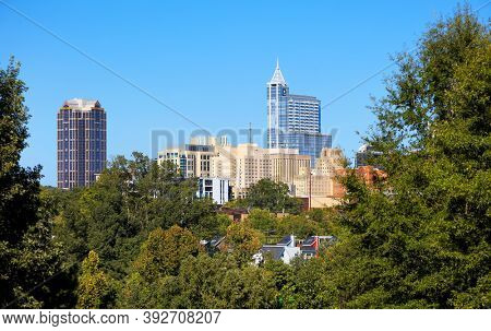 RALEIGH, NC, USA - SEPTEMBER 04, 2020 : Raleigh is the capital of North Carolina state and the second largest city in North Carolina state.