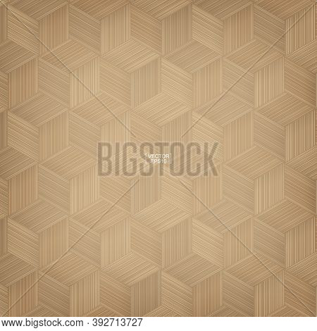 Bamboo Basketry Pattern. Natural Pattern And Texture For Background. Vector Illustration.