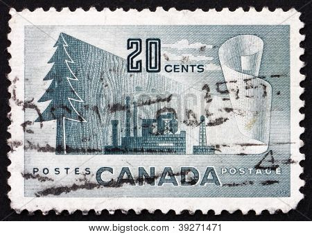 Postage stamp Canada 1952 Symbols of Newsprint Paper Production