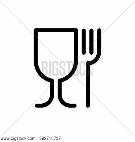 Food Grade Plastic Icon Isolated On White