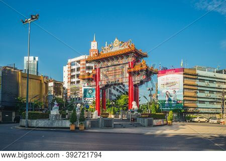 September 15, 2019: Chinatown Gate In Bangkok, Thailand. Bangkok Chinatown Was Founded In 1782 When