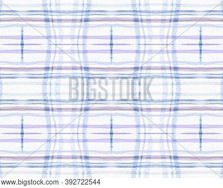 White And Blue Tartan Prints. Seamless Buffalo Design. British Plaid Fabric. Vintage Trendy Border.
