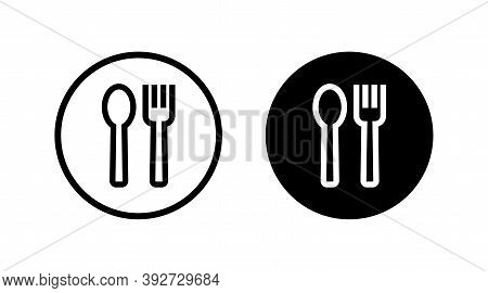 Food Icon. Lunch Linear Style Sign For Mobile Concept And Web Design. Take Away Fast Food Simple Lin
