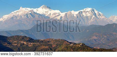 Annapurna Himal Range, Annapurna 2 Ii And 4 Iv, Nepal Himalayas Mountains