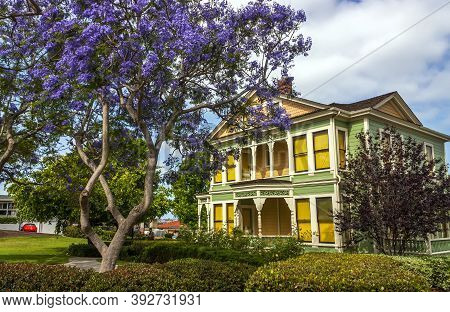 San Diego, Ca - May 08,2014:historic House At Old Town Heritage Park,san Diego, California,usa,