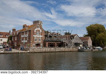 The Old Granary Beside The River Frome In Wareham, Dorset In The Uk, Taken On The 23rd July 2020