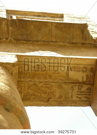 Egypt Temple Ceiling supported by Columns