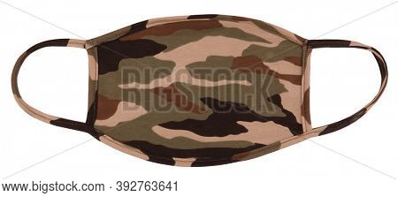 Camouflage military cloth face mask made of cotton