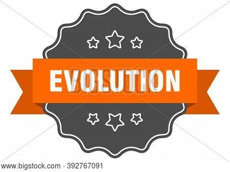 Evolution Label. Evolution Isolated Seal. Sticker. Sign