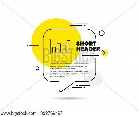 Histogram Column Chart Line Icon. Speech Bubble Vector Concept. Financial Graph Sign. Stock Exchange