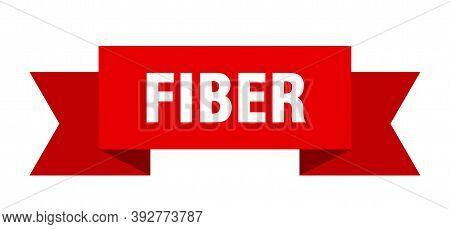 Fiber Ribbon. Fiber Isolated Band Sign. Fiber Banner