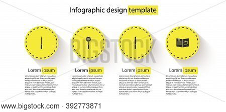 Set Knife Sharpener, Pizza Knife, Bread And Cookbook. Business Infographic Template. Vector