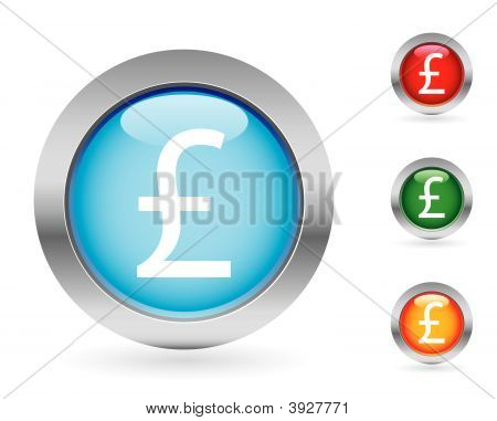 Glossy Money Button Set