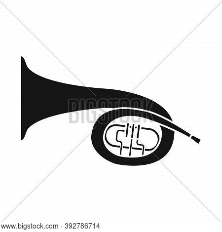 Vector Illustration Of Bugle And Trumpet Sign. Web Element Of Bugle And Wind Stock Symbol For Web.