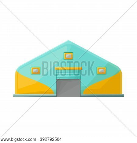 Vector Design Of Hangar And Awning Sign. Graphic Of Hangar And Warehouse Vector Icon For Stock.