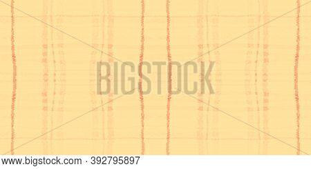 Summer Tartan Pattern. Watercolor Picnic Blanket. Retro Squares For Kilt Print. Seamless Orange Tart