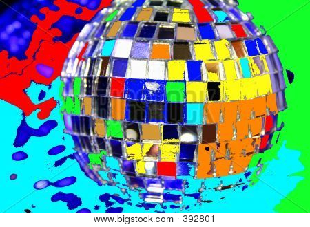 Mirror Disco Globe - Macro & Colourful