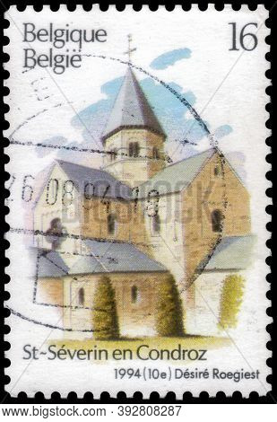 Saint Petersburg, Russia - September 18, 2020: Postage Stamp Issued In Belgium With The Image Of The