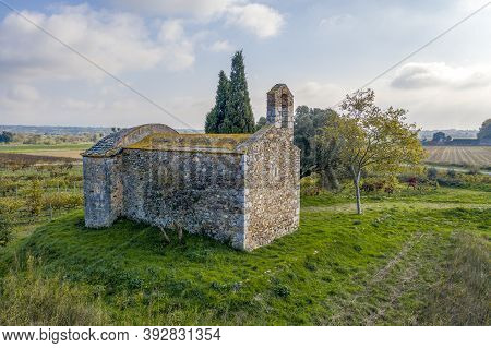 Sant Nazari De Les Olives Is A Church In The Municipality Of Peralada (alt Emporda), Included In The