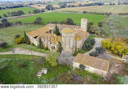 Vallgornera Castle In Peralada, Alt Emporda, Girona Catalonia Spain