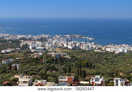 Akrotiri and Malia riviera near Heraklio city at Crete island in Greece poster