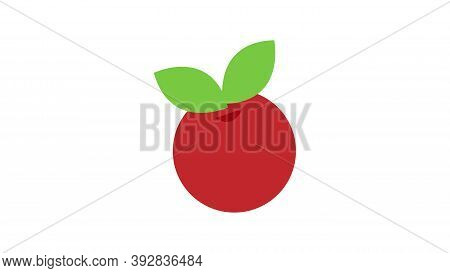 Cranberry On A White Background, Red Berry, Vector Illustration. Sugar Cranberry, Marsh Berry, Harve