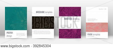 Abstract Cover. Amusing Design Template. Suminagashi Marble Minimalistic Poster. Amusing Trendy Abst
