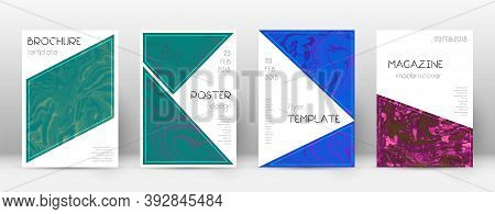 Abstract Cover. Awesome Design Template. Suminagashi Marble Triangle Poster. Awesome Trendy Abstract