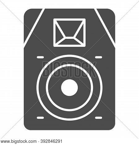 Audio Speaker Solid Icon, Sound Design Concept, Sound Loud Speaker Sign On White Background, Subwoof