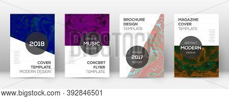 Abstract Cover. Impressive Design Template. Suminagashi Marble Modern Poster. Impressive Trendy Abst