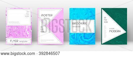 Abstract Cover. Charming Design Template. Suminagashi Marble Stylish Poster. Charming Trendy Abstrac