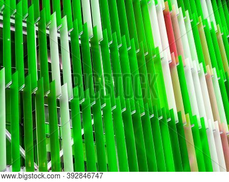 Decorate Acrylic Plastic Sheet Interior Colorful White Green Grass