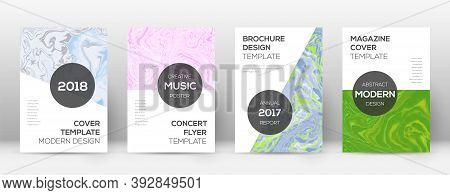 Abstract Cover. Imaginative Design Template. Suminagashi Marble Modern Poster. Imaginative Trendy Ab