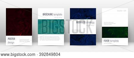 Abstract Cover. Flawless Design Template. Suminagashi Marble Minimalistic Poster. Flawless Trendy Ab