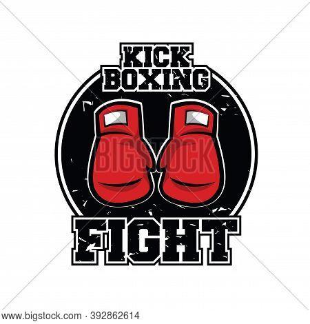Kick Boxing Logo. Kick Boxing And Martial Arts Illustration Logo Vector
