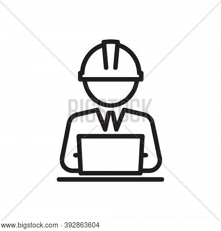 Architect Man Or Women Icon Isolated On White Background From Architect Collection. Architect Icon T