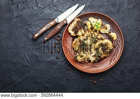 Baked Cauliflower Steak.
