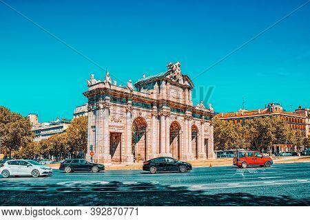 Gate Of Alcala (puerta De Alcala) Neo-classical Monument In The
