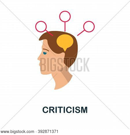 Criticism Icon. Simple Element From Critical Thinking Collection. Creative Criticism Icon For Web De
