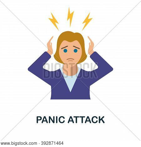 Panic Attack Icon. Simple Element From Critical Thinking Collection. Creative Panic Attack Icon For