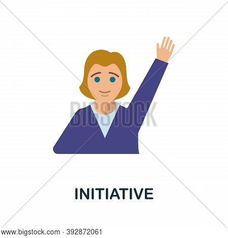 Initiative Icon. Simple Element From Critical Thinking Collection. Creative Initiative Icon For Web