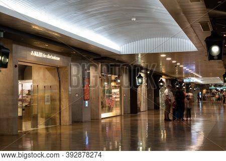 Taipei, Taiwan - Oct 4th, 2020: the eslite bookstore at Taipei City Mall at Taipei city, Taiwan, Asia
