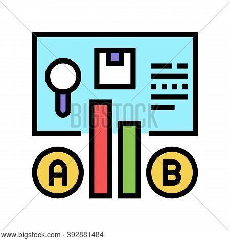 Comparison Market Color Icon Vector. Comparison Market Sign. Isolated Symbol Illustration