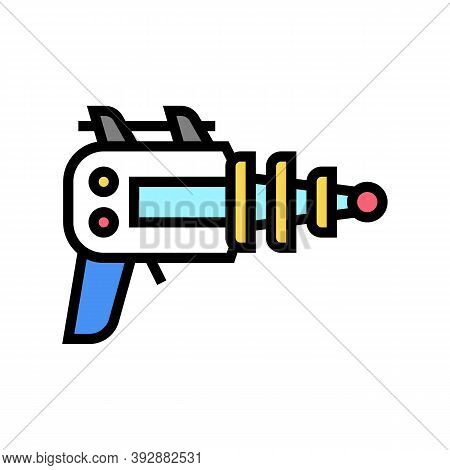 Futuristic Weapon Geek Color Icon Vector. Futuristic Weapon Geek Sign. Isolated Symbol Illustration